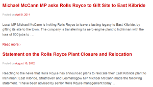 McCann's eighteen month gap on Rolls Royce