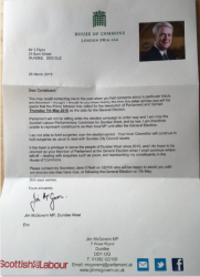 Letter to constituents from Jim McGovern