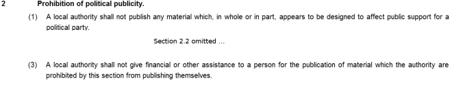 Local Government Act 1986 - Sections 2.1 and 2.3